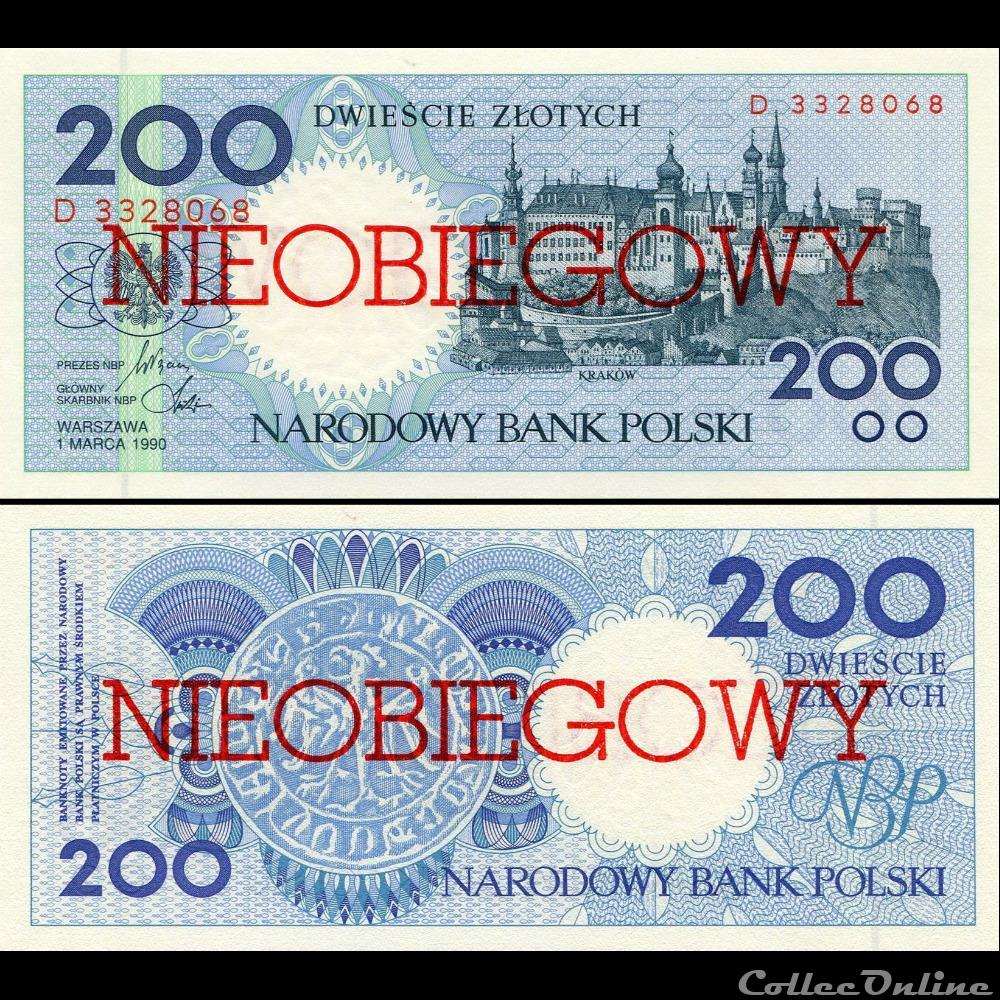 billet russie pologne pick 171 a 200 zlotych 1990