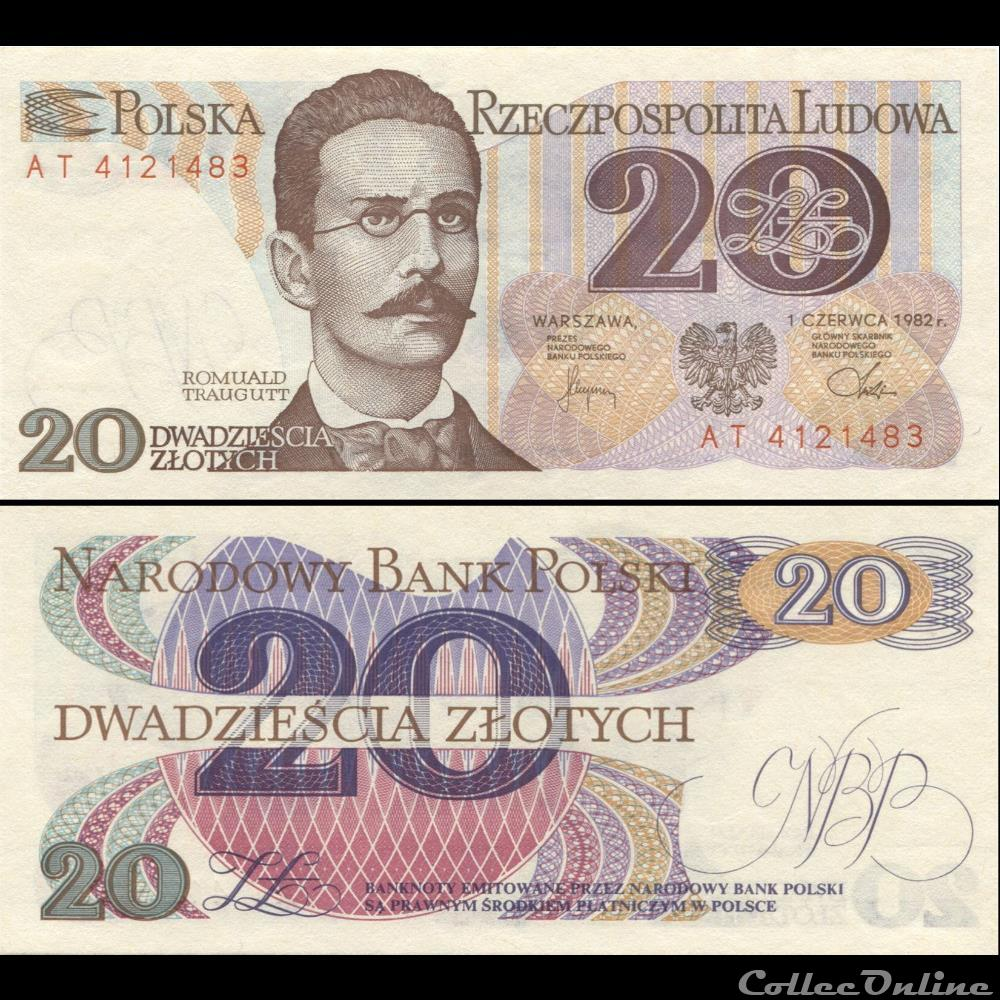 billet papouasie nouvelle guinee pologne pick 149 a 2 20 zlotych 1982