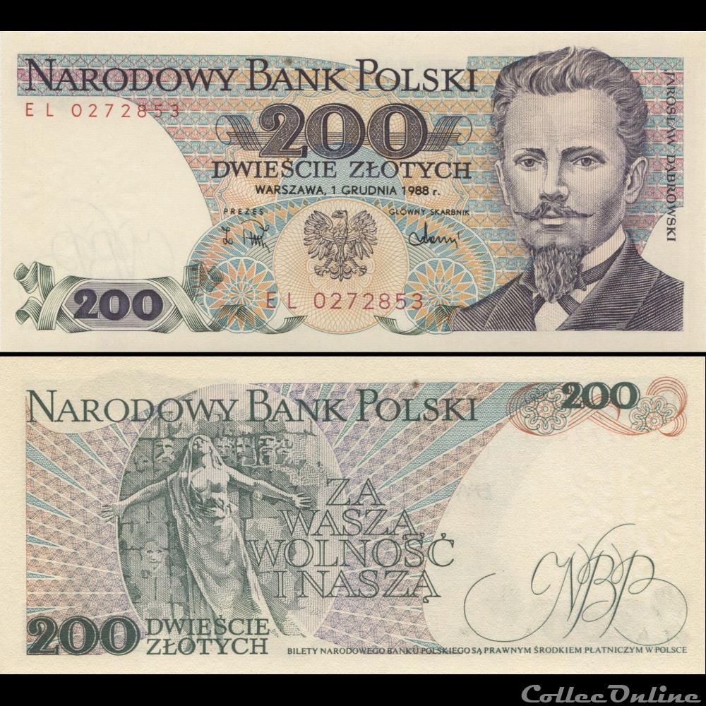 billet madagascar pologne pick 144 c 2 200 zlotych 1988