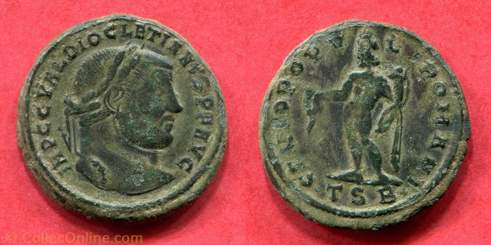 monnaie antique av jc ap romaine diocletien genio popv l i romani ric 21 a