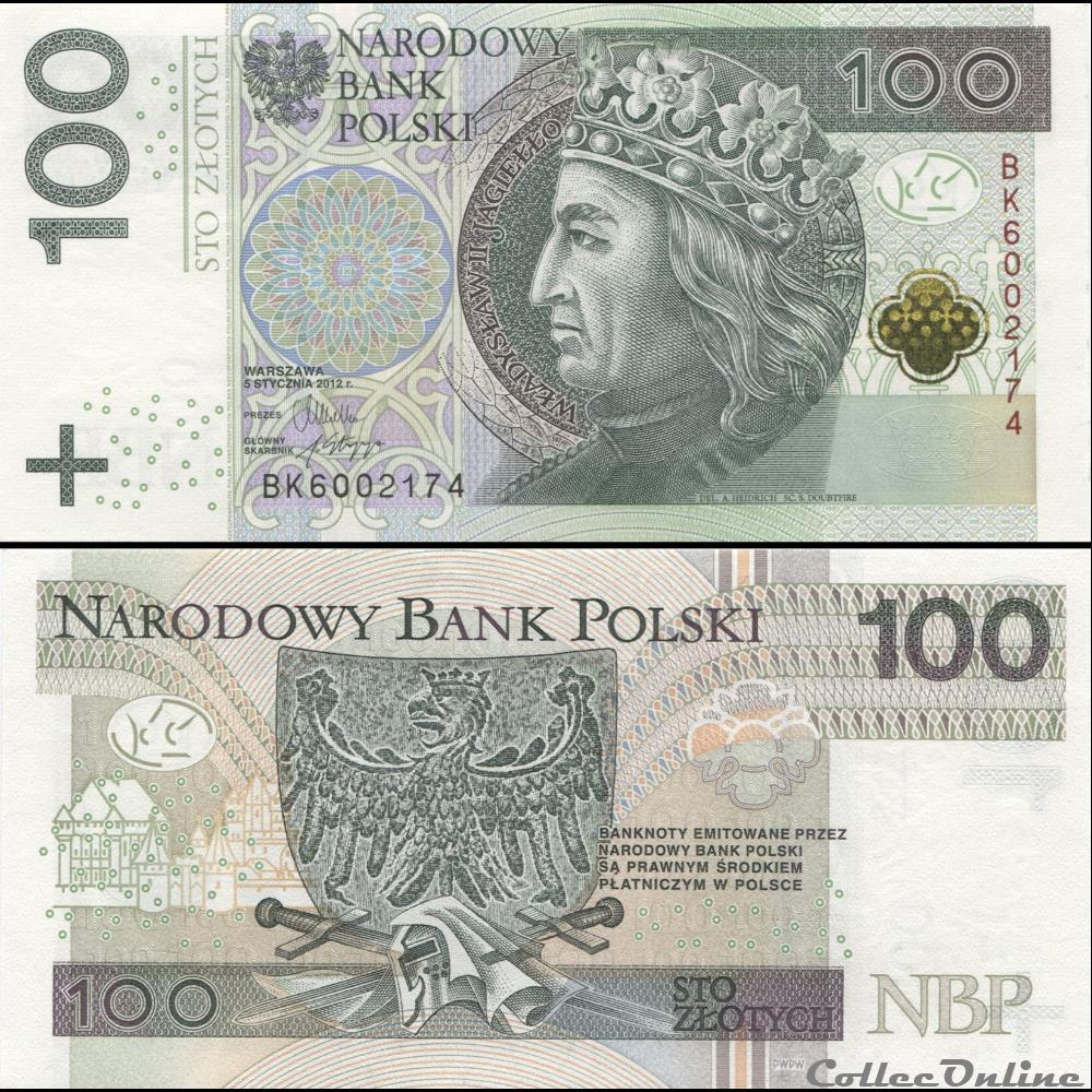 billet vietnam pologne pick 186 100 zlotych 2012
