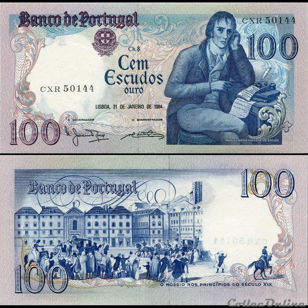 billet europe portugal pick 178 c 6 100 escudos 1984