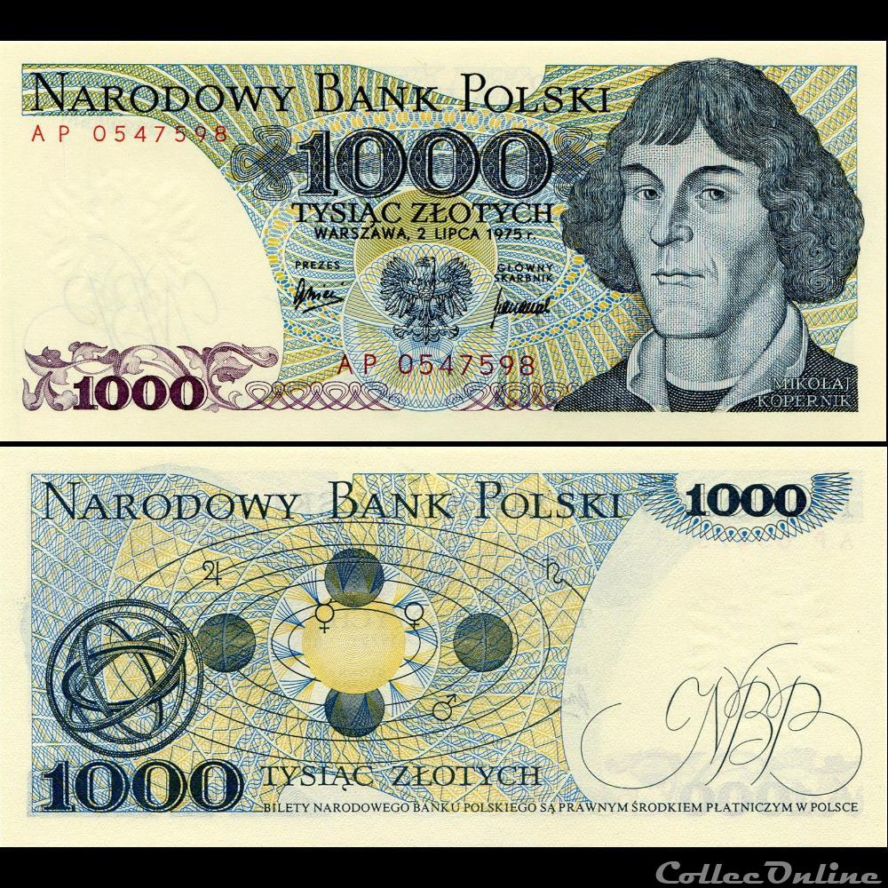 billet assignat pologne pick 146 a 1000 zlotych 1975