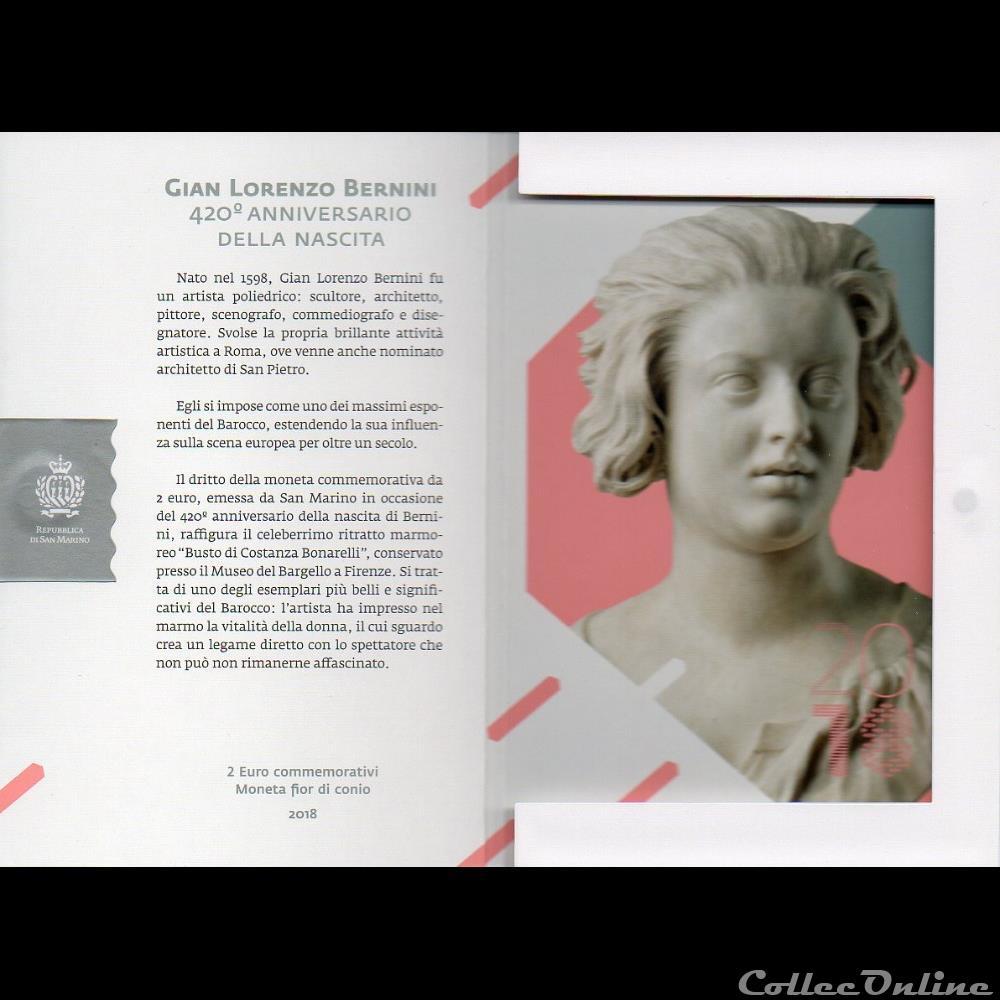 monnaie euro saint marin 2018 gian lorenzo bernini