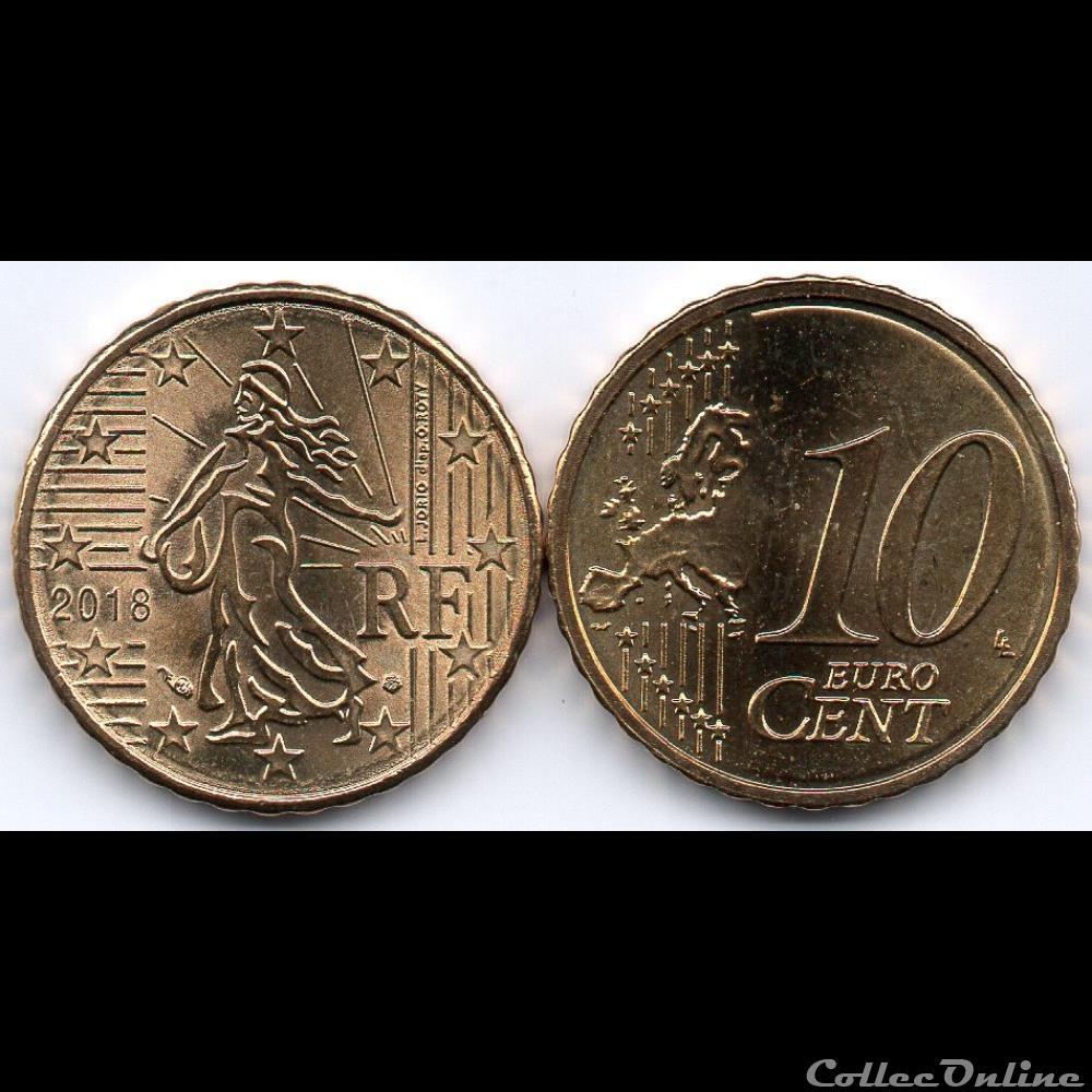 monnaie euro france 10 cent 2018 la semeuse