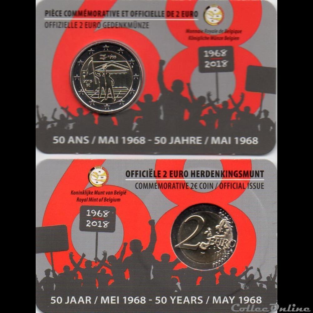 monnaie euro belgique 2018 50 ans mai 1968