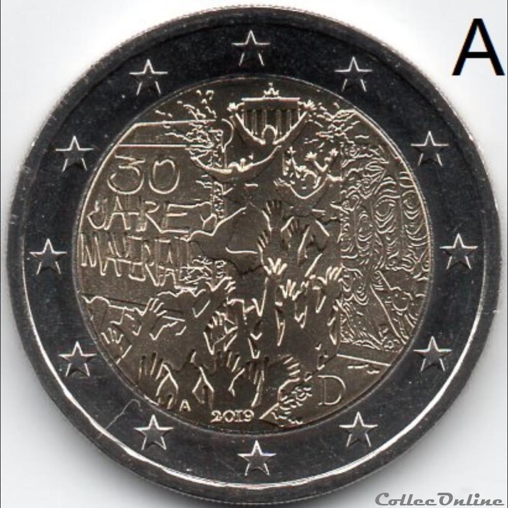monnaie euro a allemagne 2019 chute mur de berlin