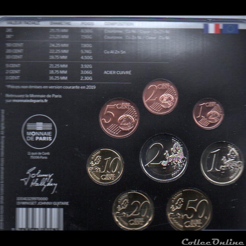 monnaie euro a france bu 2019