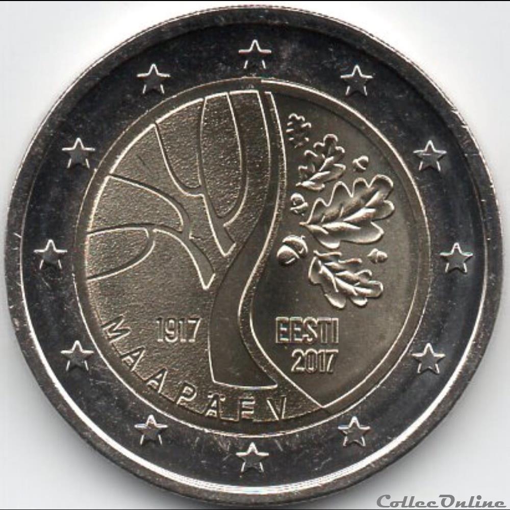 monnaie euro 2017 la route de estonie vers independance