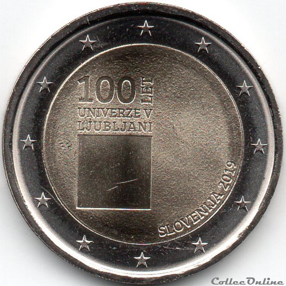 monnaie euro slovenie 2019 100 em anniversaire fondation l universite de ljubljana