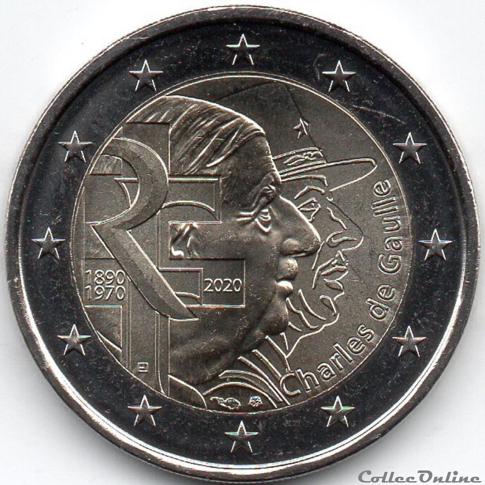 monnaie euro france 2020 50 em anniversaire de la mort de charles de gaulle