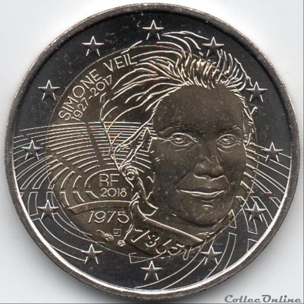 monnaie euro a france 2018 simone veil