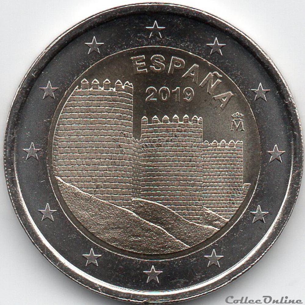 monnaie euro espagne 2019 rempart avila