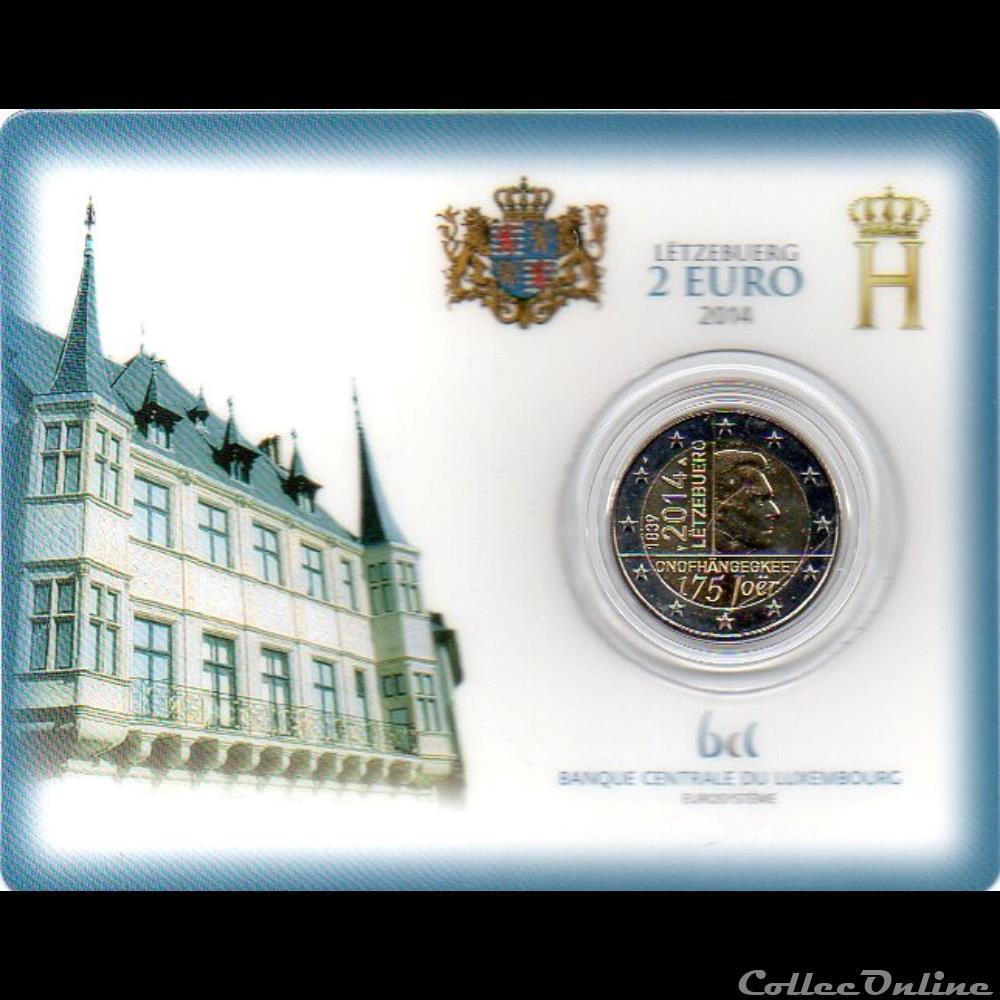 monnaie euro 2014 coin card 175e anniversaire de independance du luxembourg