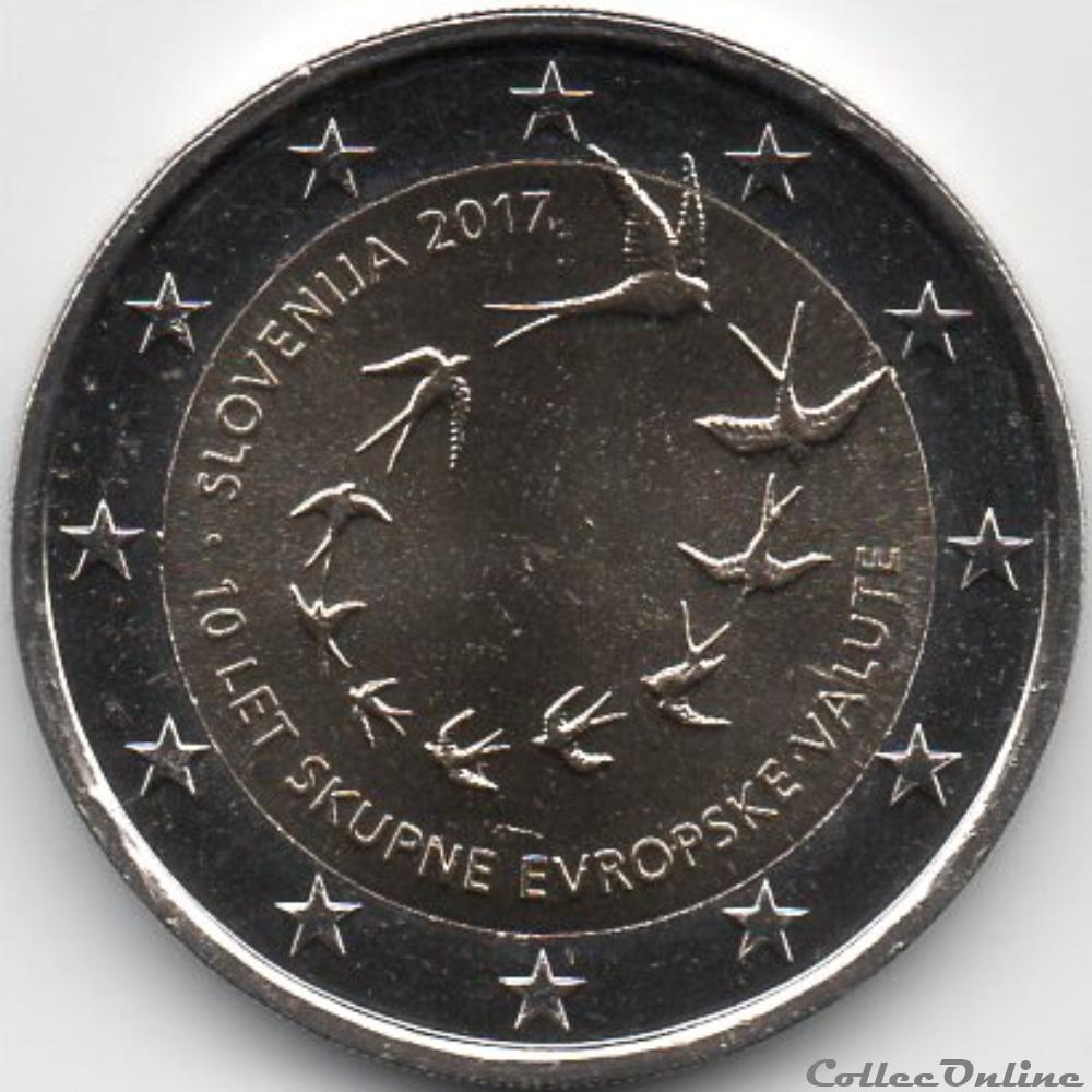 monnaie slovenie 2017 10 ans de introduction de euro