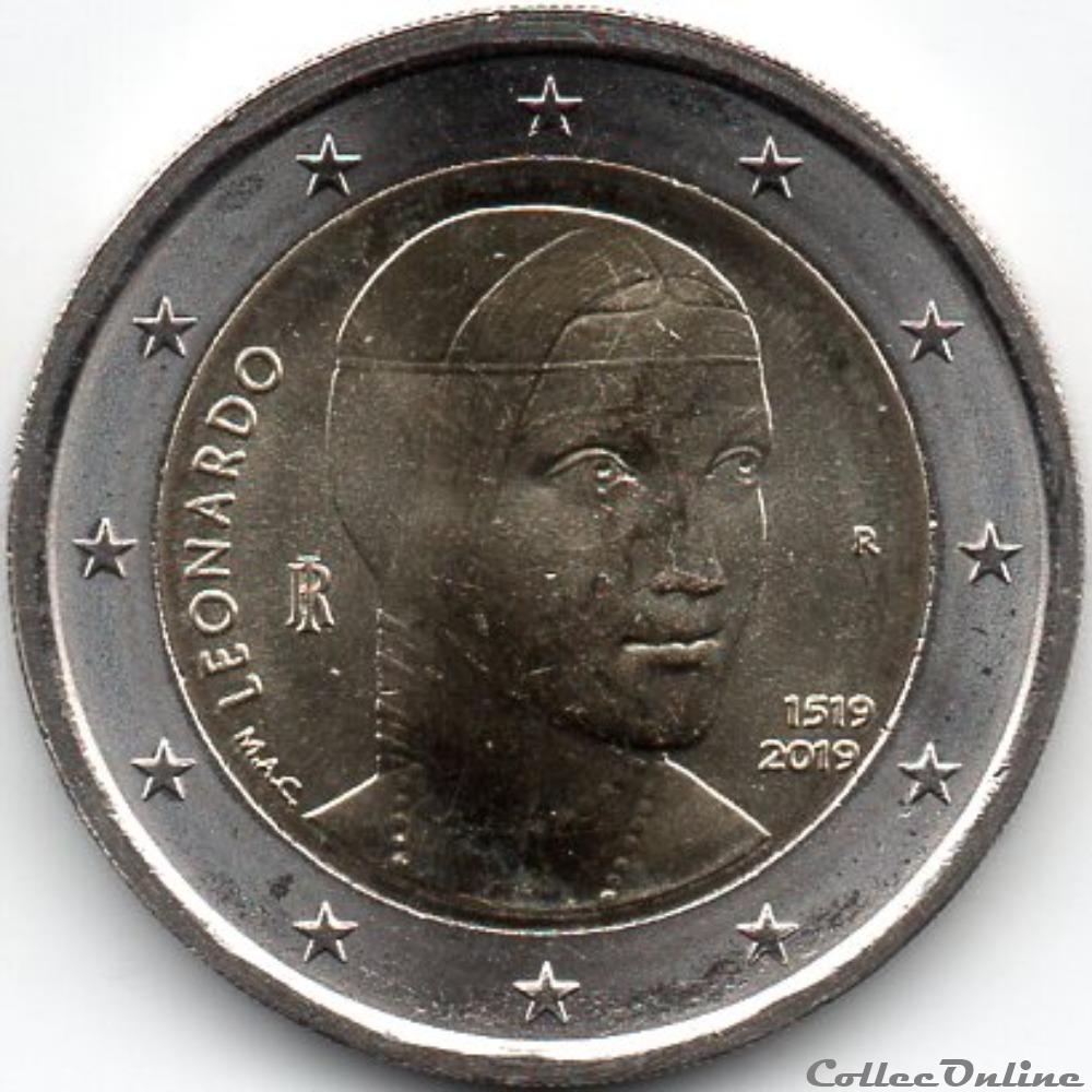 monnaie euro italie 2019 leonardo da vinci