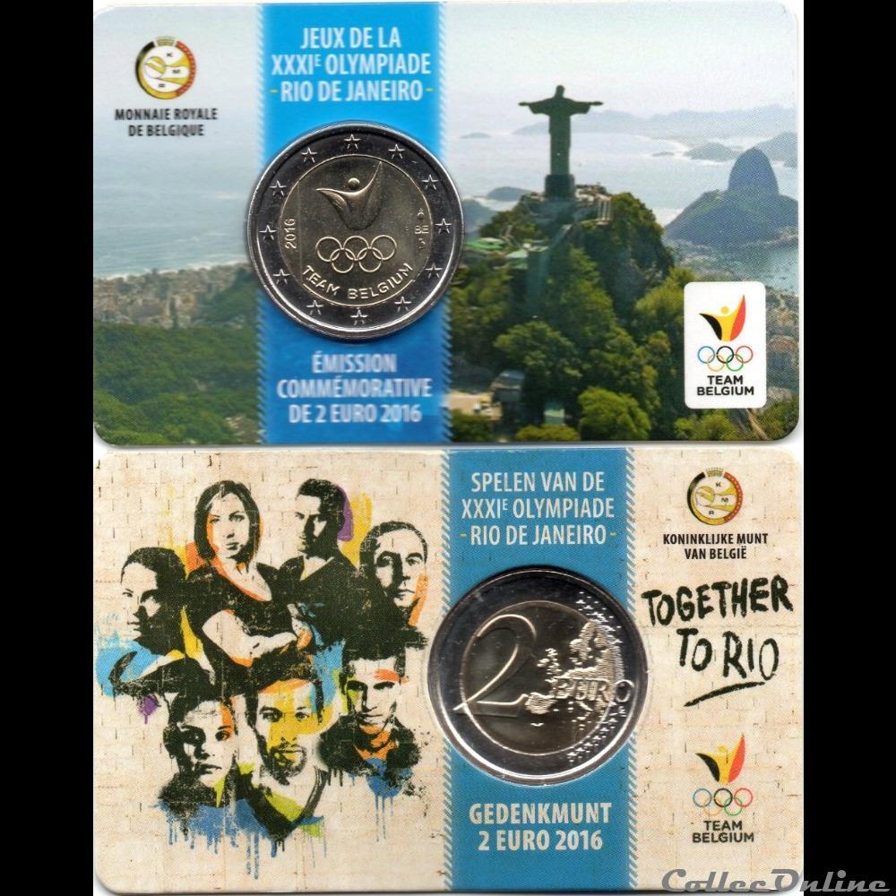 monnaie euro a belgique 2016 jeux olympique de rio