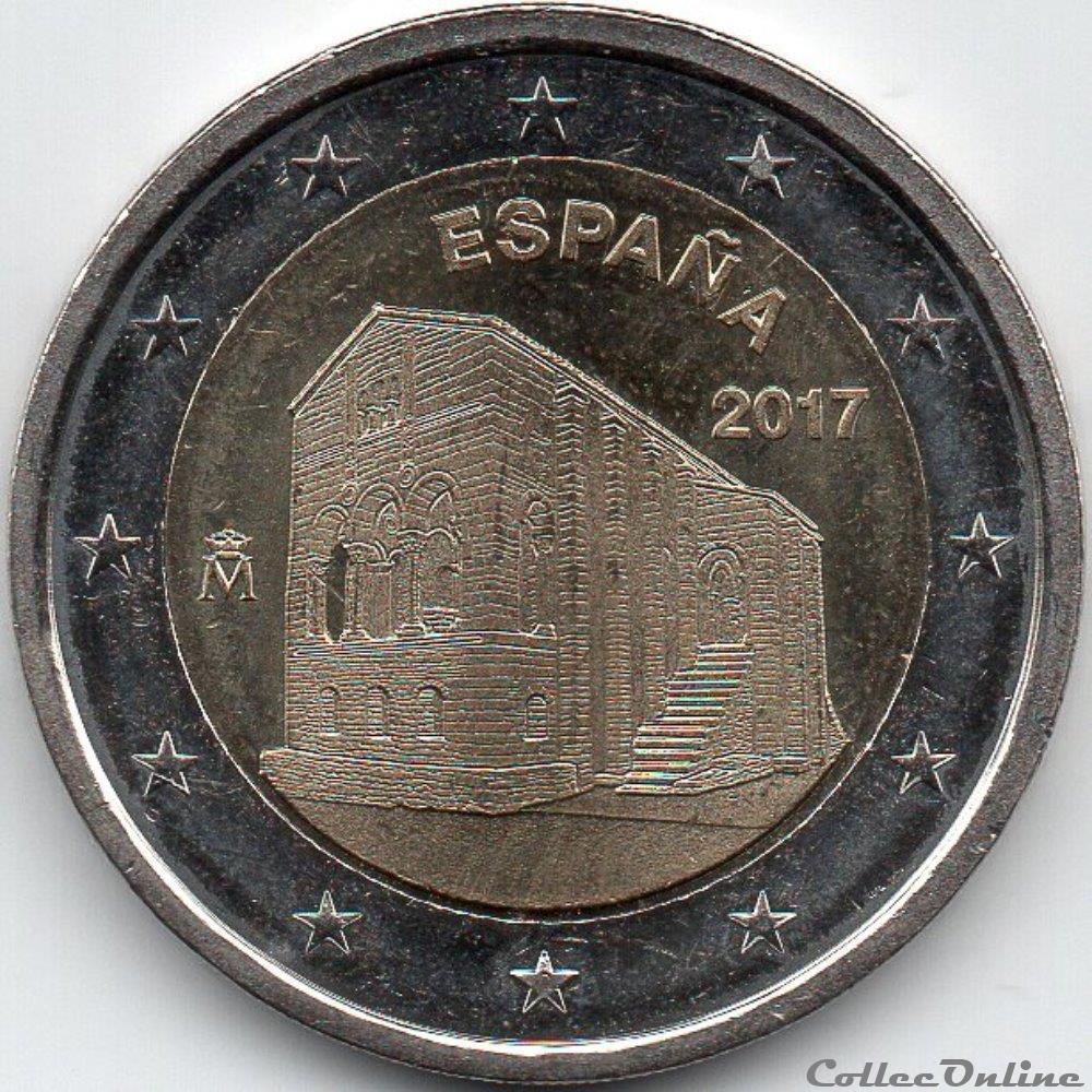 monnaie euro espagne 2017 eglise santa maria de naranco oviedo