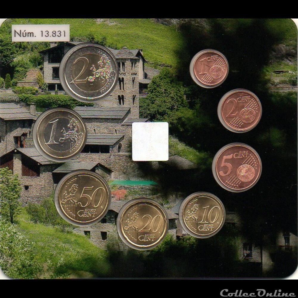 monnaie euro a andorre bu 2018 serie bu