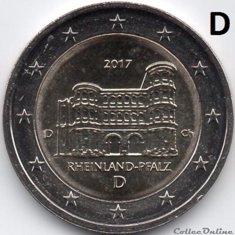 monnaie euro allemagne 2017 porta nigra