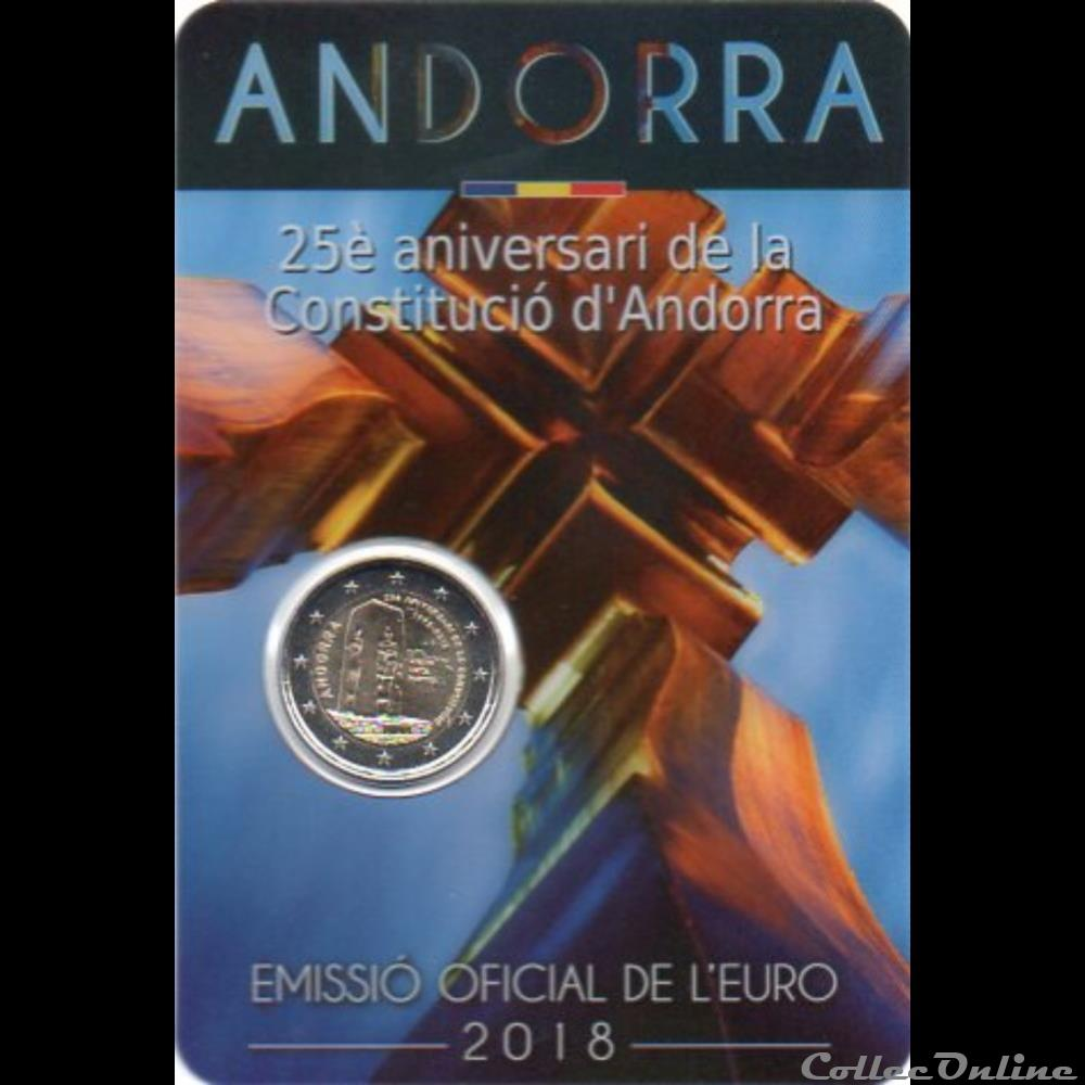 monnaie euro andorre 2018 25 ans constitution