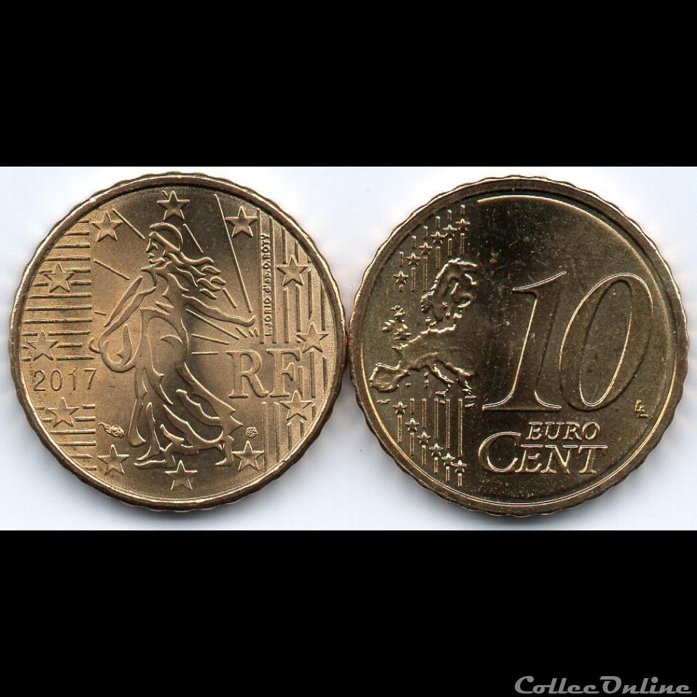 monnaie euro france 10 cent 2017 la semeuse