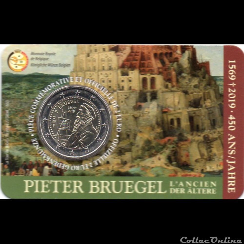 monnaie euro a belgique 2019 pieter brueghel