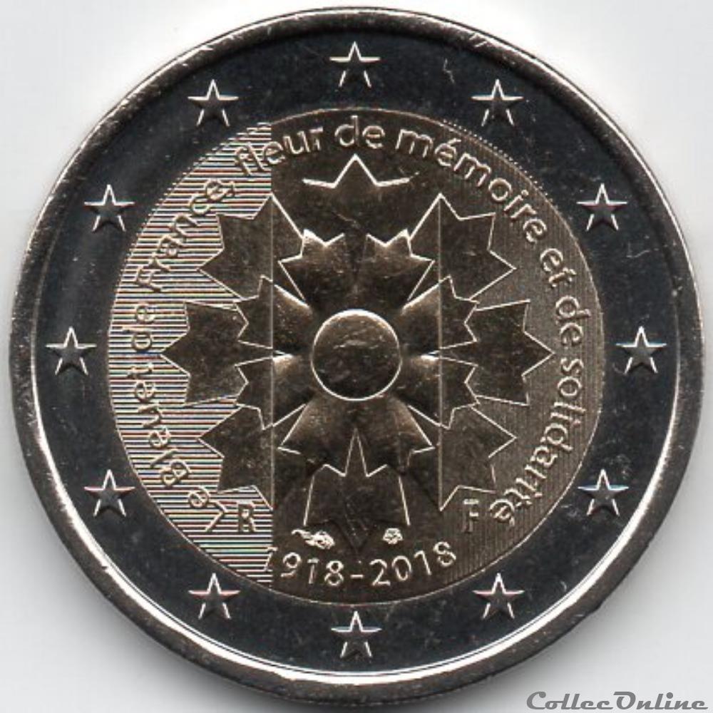 monnaie euro a france 2018 bleuet