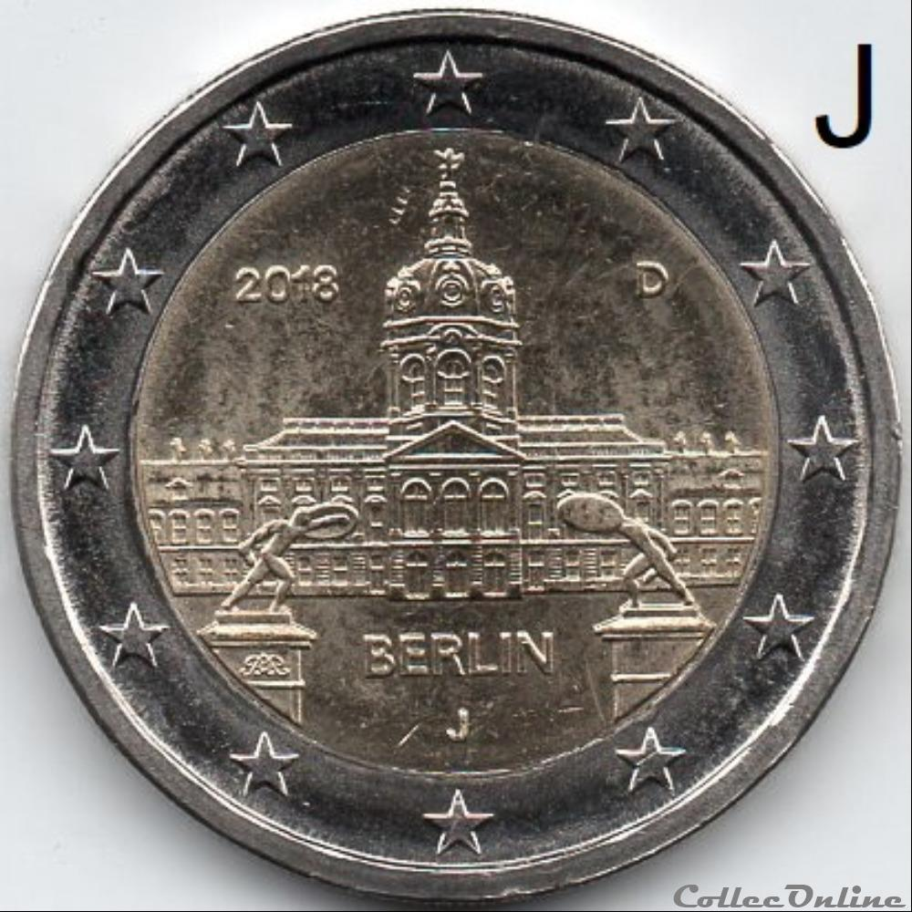 monnaie euro a allemagne 2018 berlin