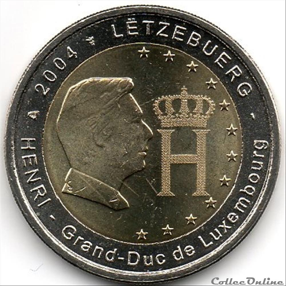 monnaie euro luxembourg 2004 grand duc