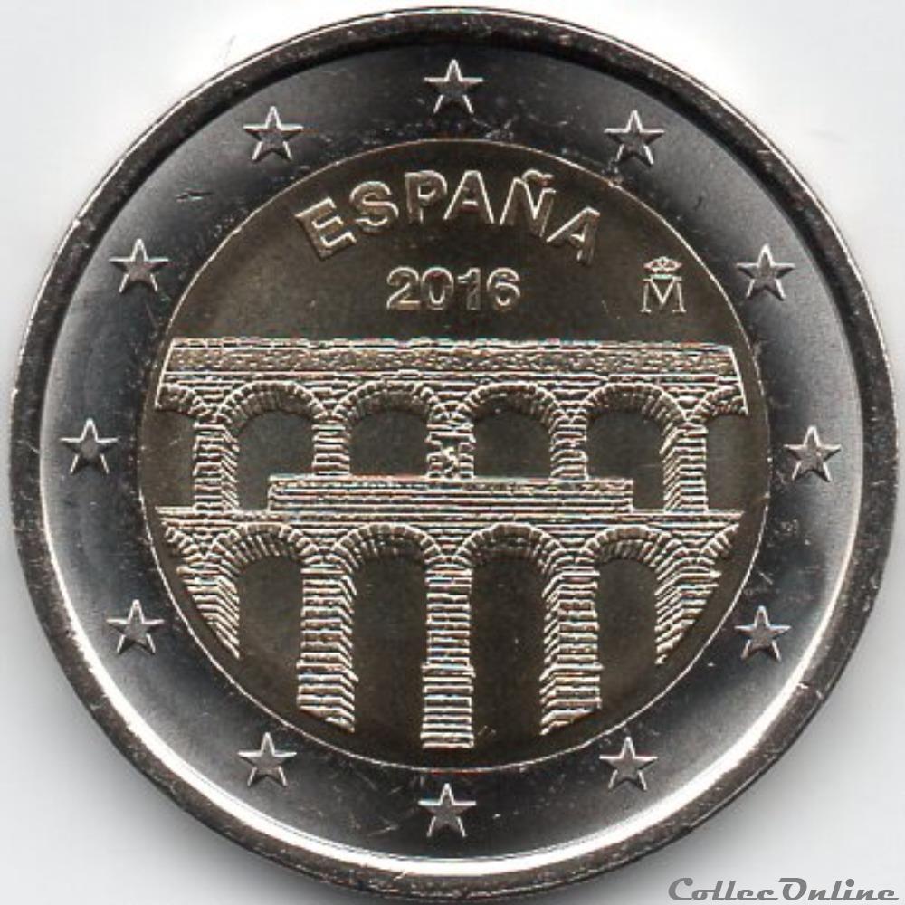 monnaie euro espagne 2016 aqueduc de segovie