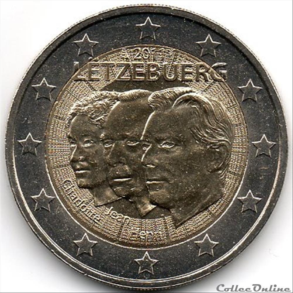 monnaie euro 2011 90 ans de jean de luxembourg
