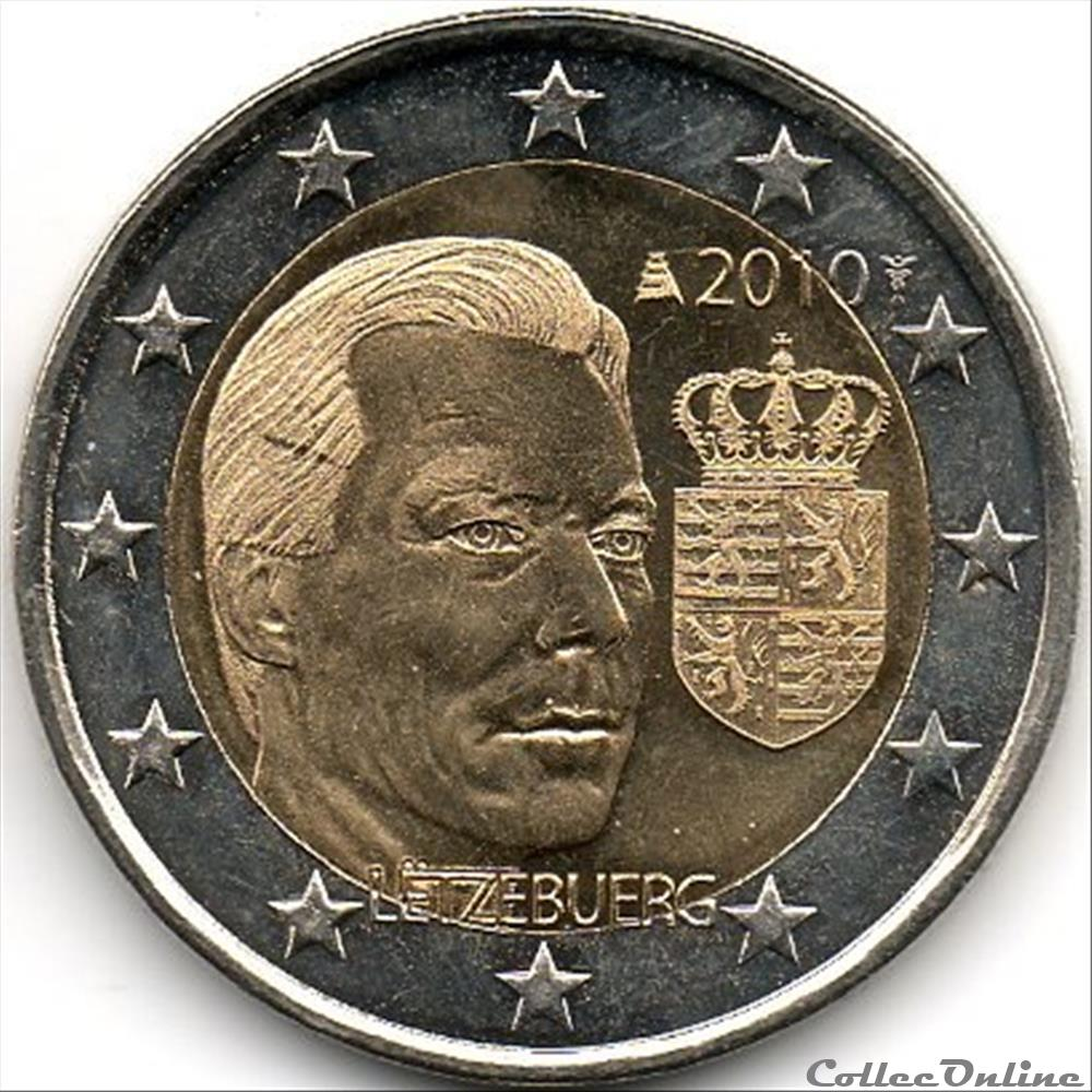 monnaie euro luxembourg 2010 armoiries grand ducale