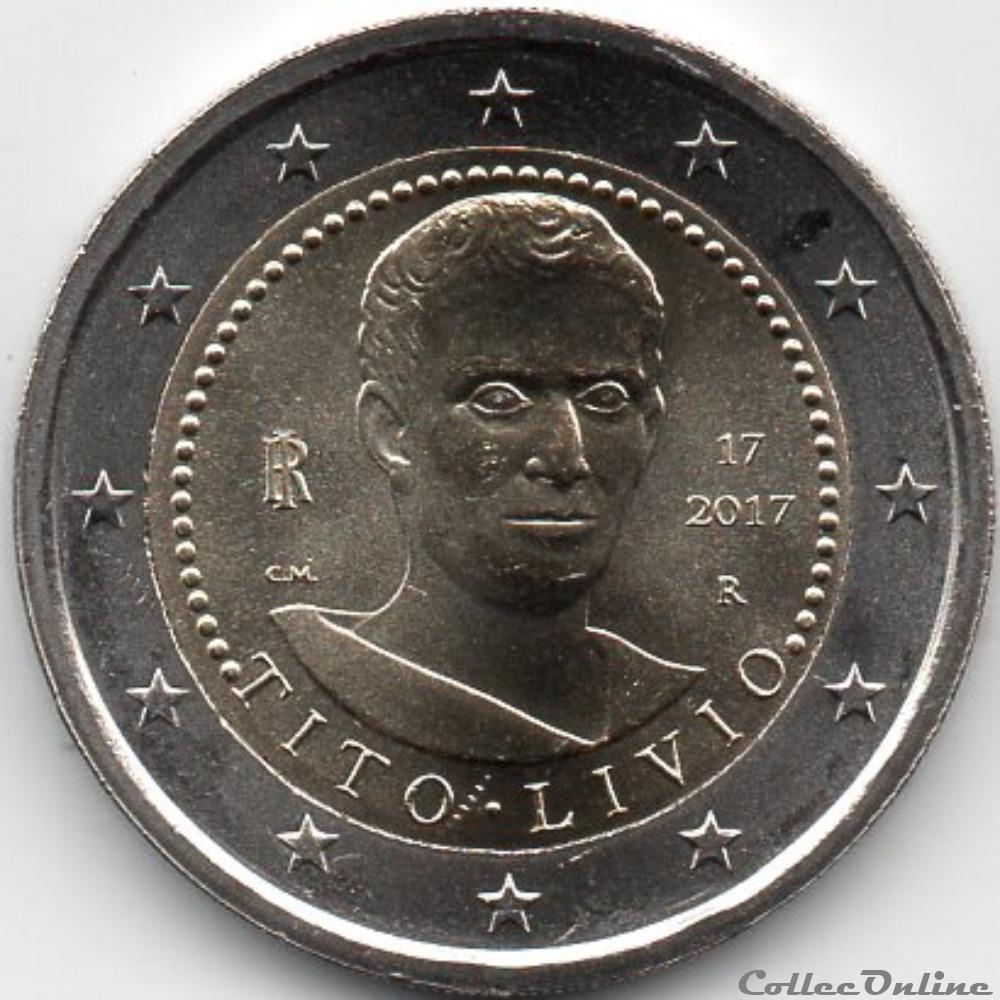 monnaie euro italie 2017 2000 ans de historien romain tito livio