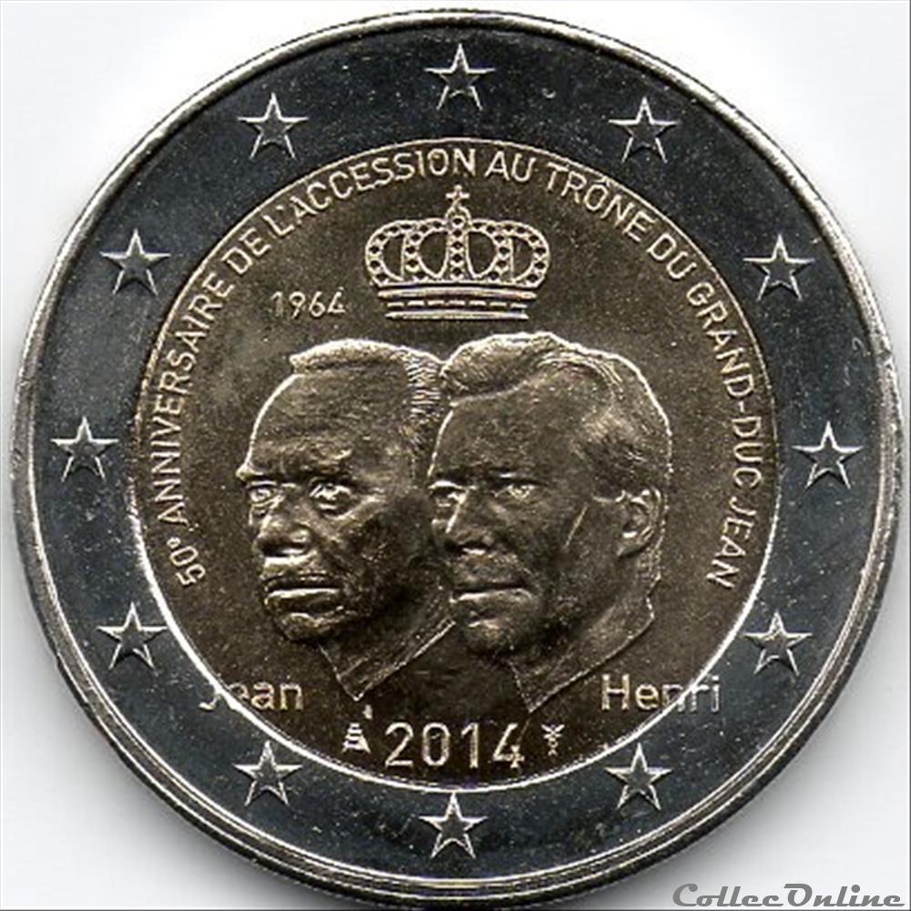monnaie euro 2014 jean et henri du luxembourg