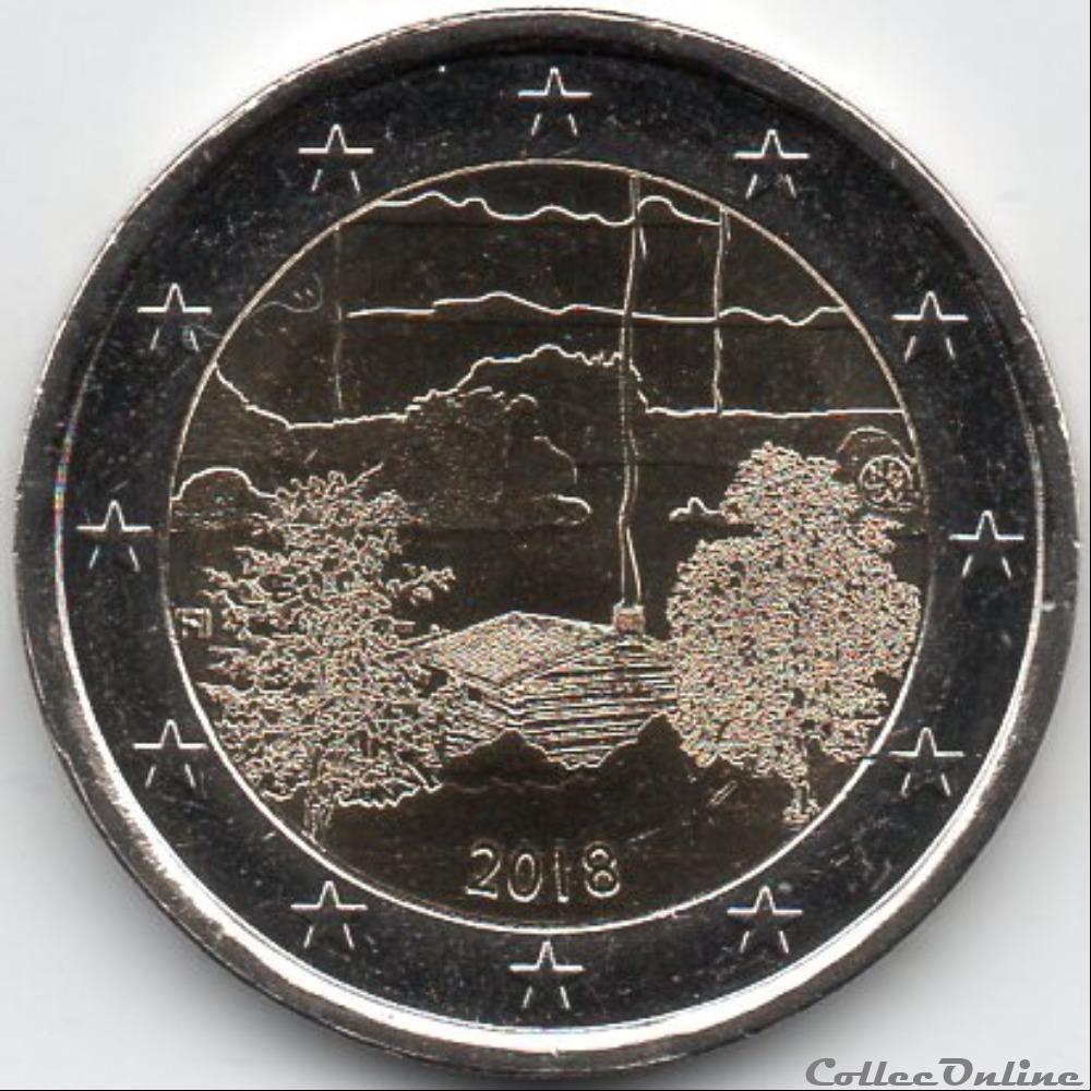 monnaie euro finlande 2018 parc national de koli