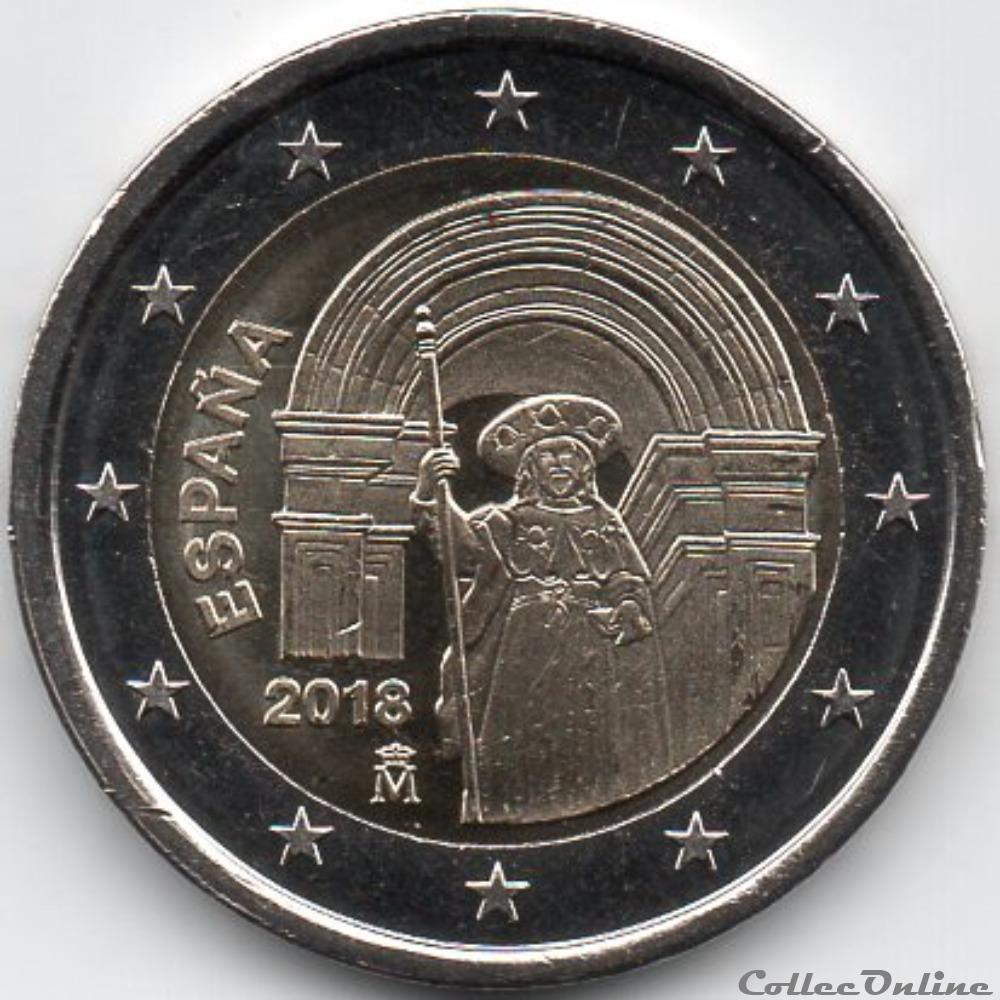 monnaie euro espagne 2018 sant jacques de compostelle