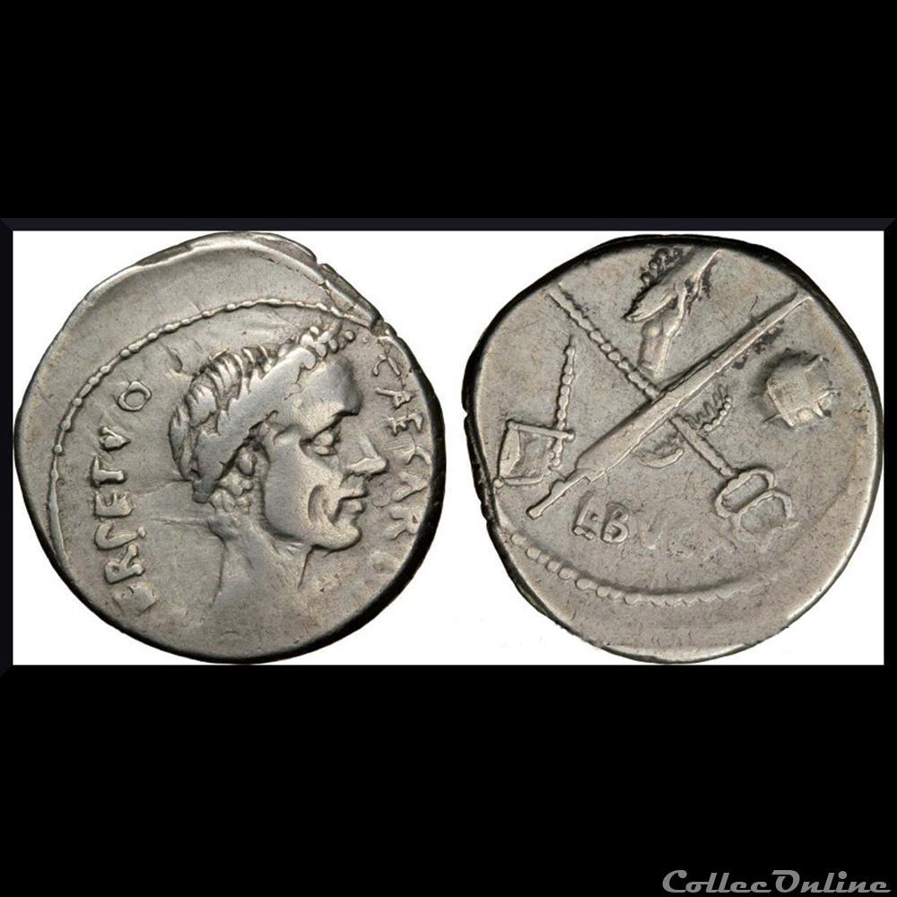 monnaie antique romaine denier jules cesar rome 44 avant j c