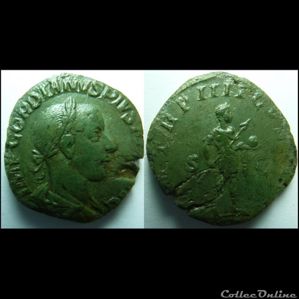 monnaie antique romaine sesterce gordien iii 241