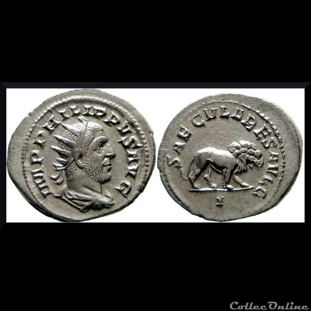 monnaie antique romaine antoninien au lion philippe 1er 248