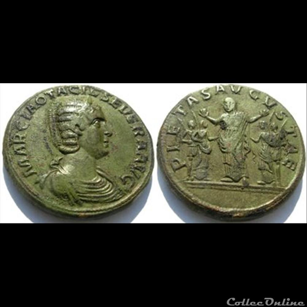 monnaie antique romaine otacilia severa sesterce pietas avgvstae