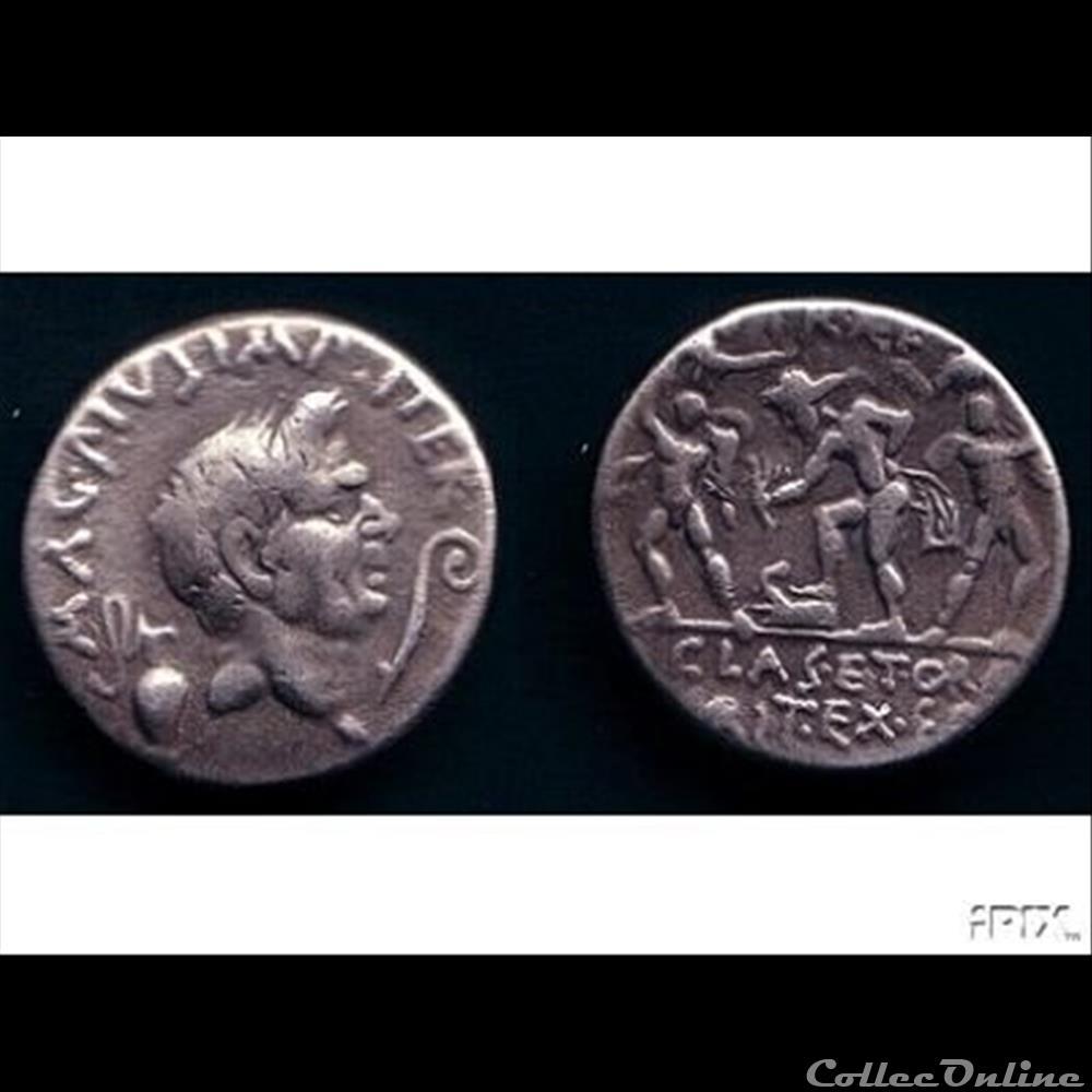 monnaie antique romaine sextus pompee denier