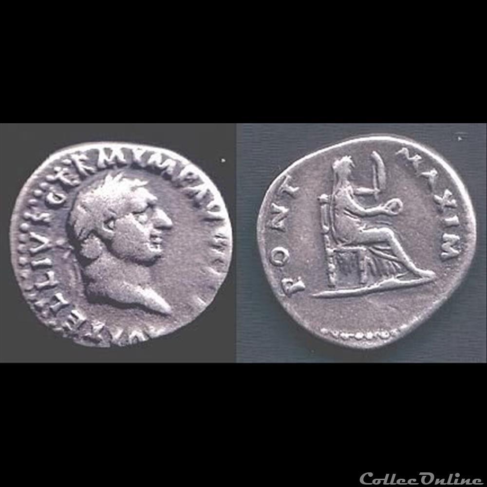 monnaie antique romaine vitellius denier pont maxim