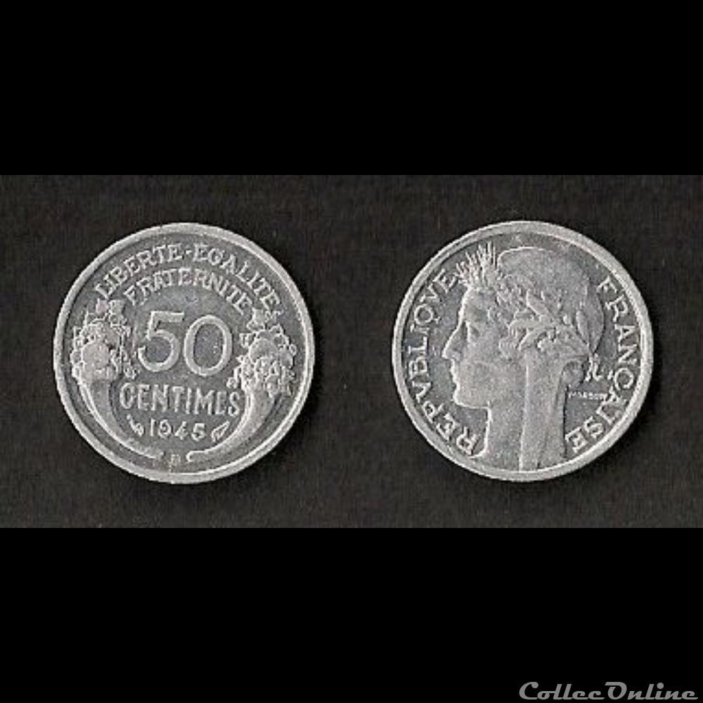 monnaie france moderne 50 cts morlon alu 1945 b