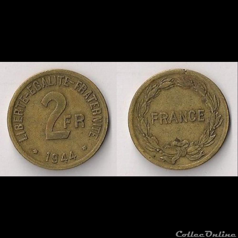 monnaie moderne 2 francs france libre 1944