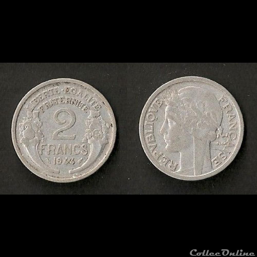 monnaie france moderne 2 francs morlon aluminium 1944