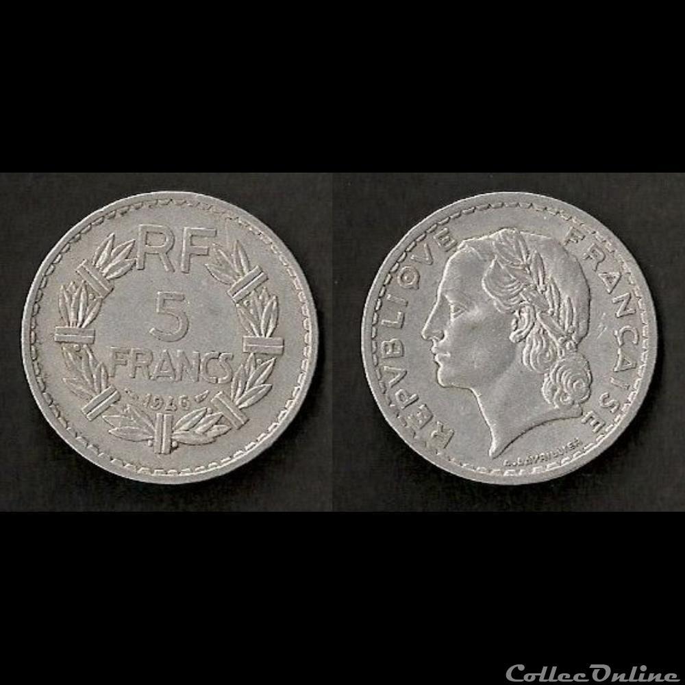 monnaie france moderne 5 francs lavrillier 1946