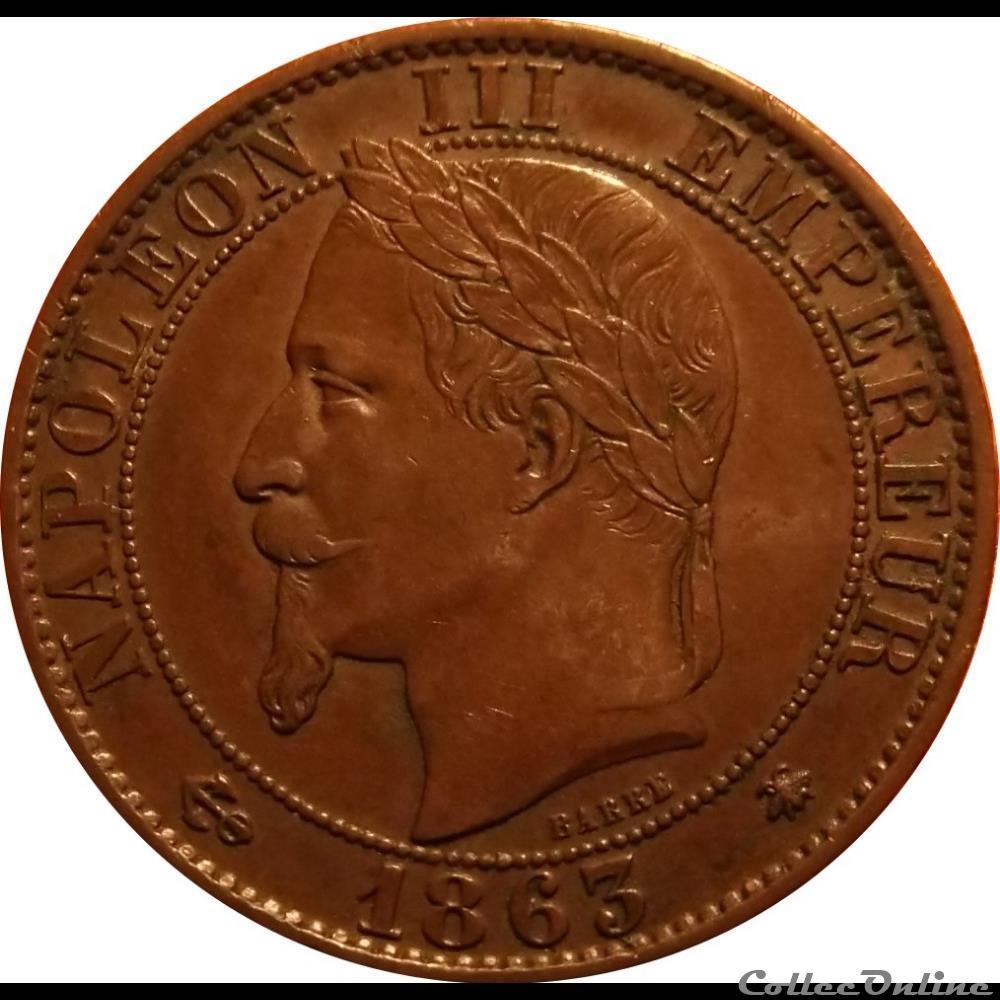 monnaie france moderne 5 centimes 1863 a