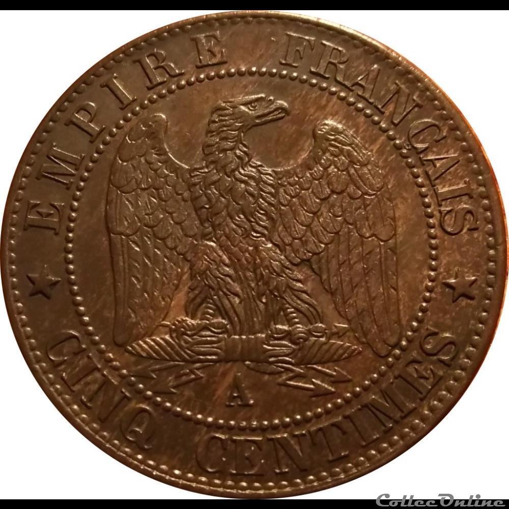 monnaie france moderne 5 centimes 1864 a