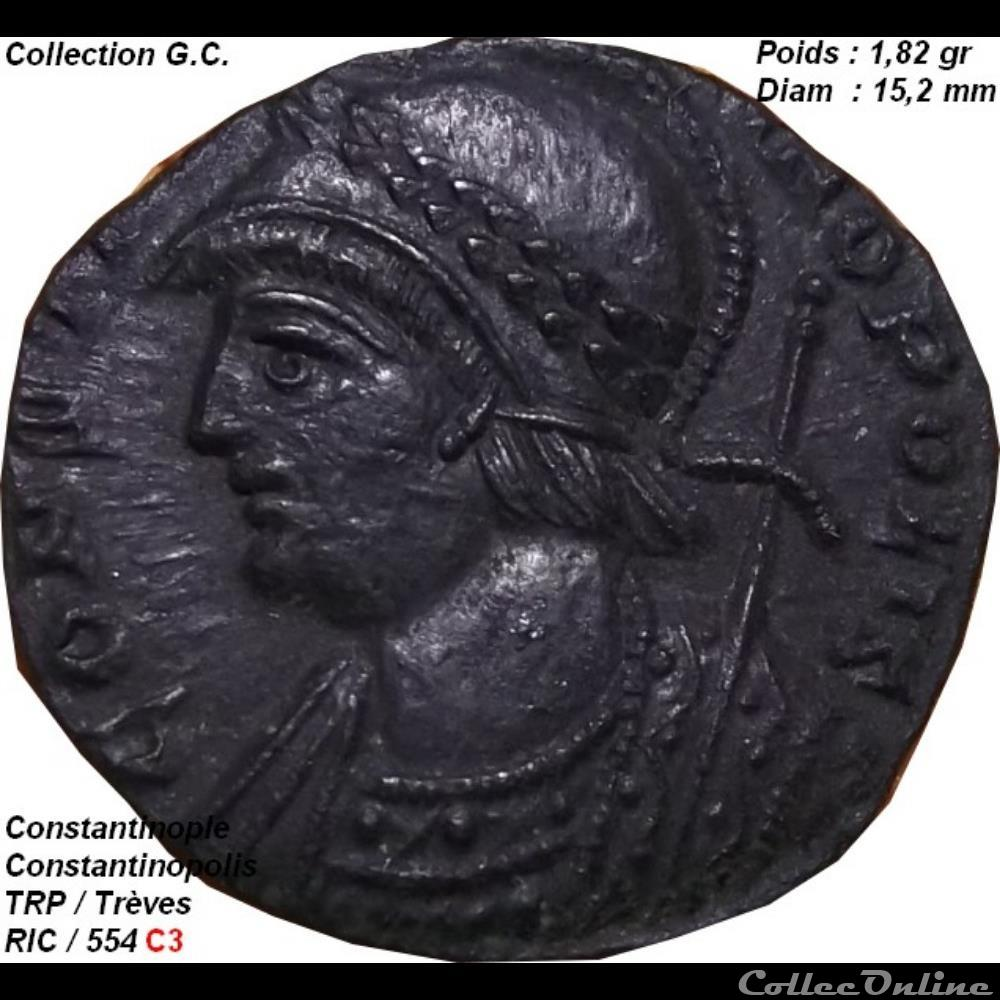 monnaie antique romaine constantinopolis ric 554